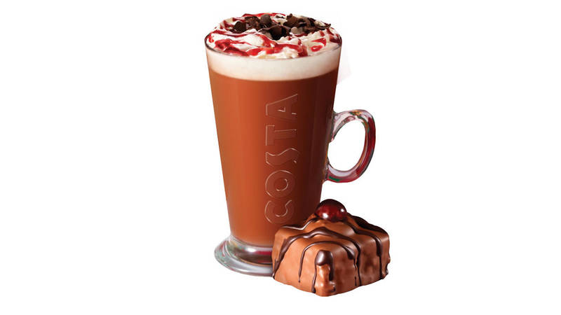 Costa black forest hot chocolate