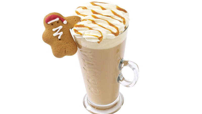 Costa gingerbread & cream latte
