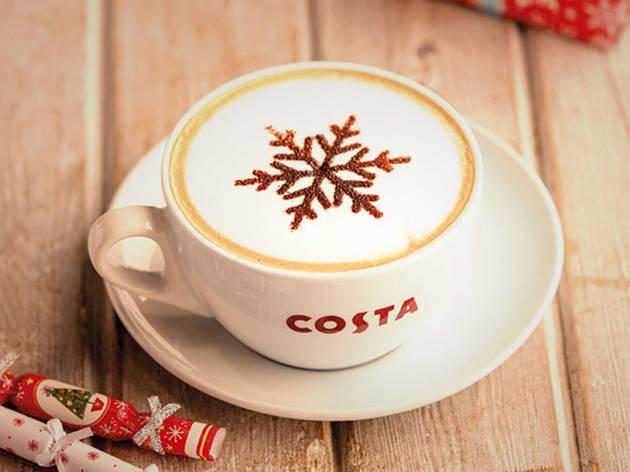 Costa salted caramel cappuccino