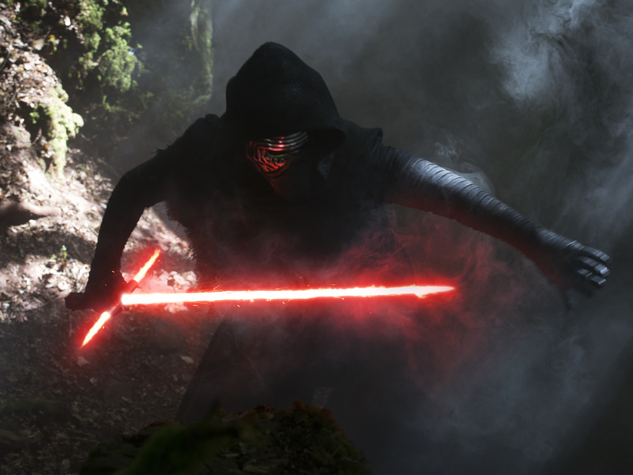 Still, Adam Driver very nearly outdoes Darth Vader