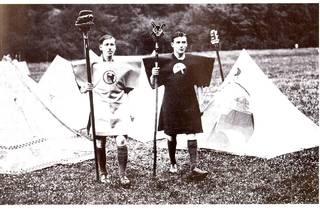 (Kibbo Kift Kindred members at camp, 1928. Courtesy of Judge Smith, Kibbo Kift Foundation. © Kibbo Kift Foundation)