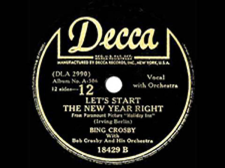 """""""Let's Start the New Year Right"""" by Bing Crosby"""