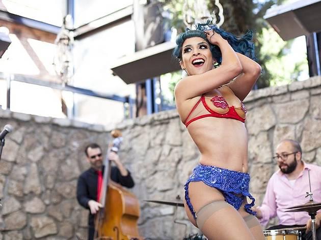 Alyssa Marquez at Burlesque Brunch at Sadie Kitchen and Lounge