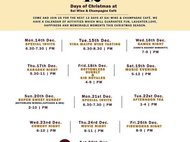 12 Days of Christmas at Sai