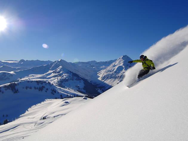 Snowboarder Gstaad