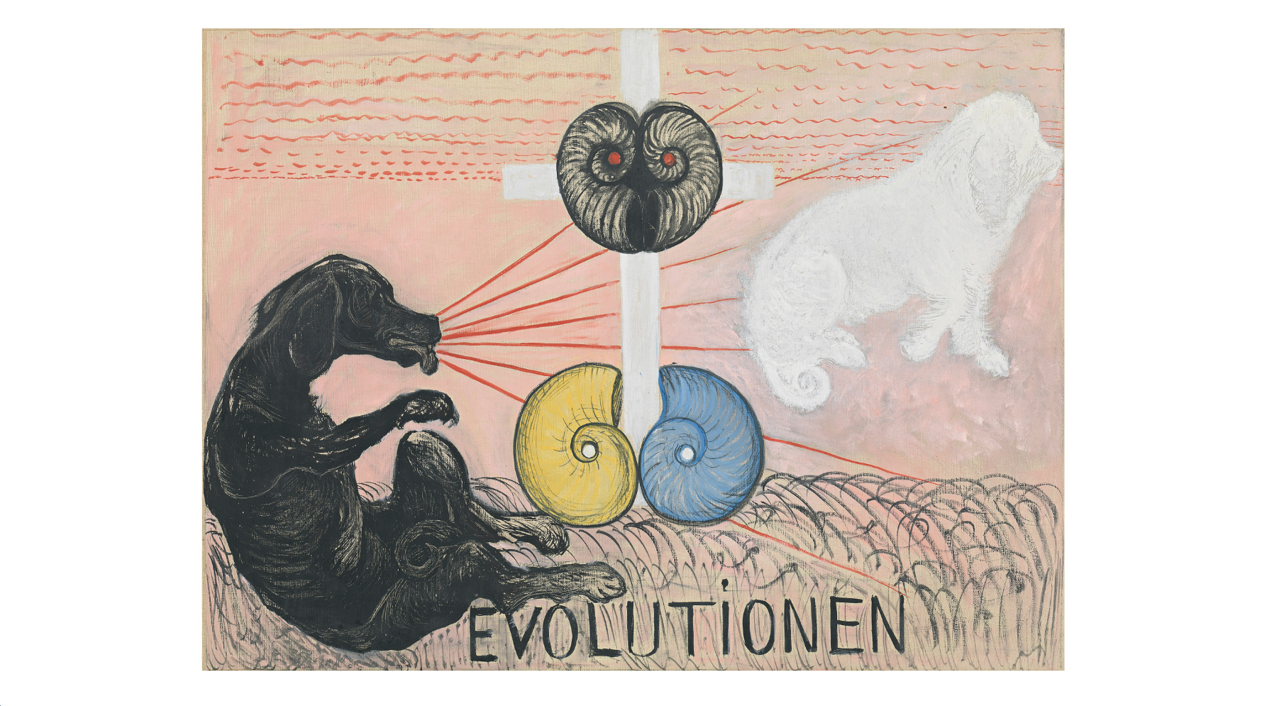 (Hilma af Klint: 'Group VI, No5 Evolution', 1908. Courtesy of Stiftelsen Hilma af Klints Verk)