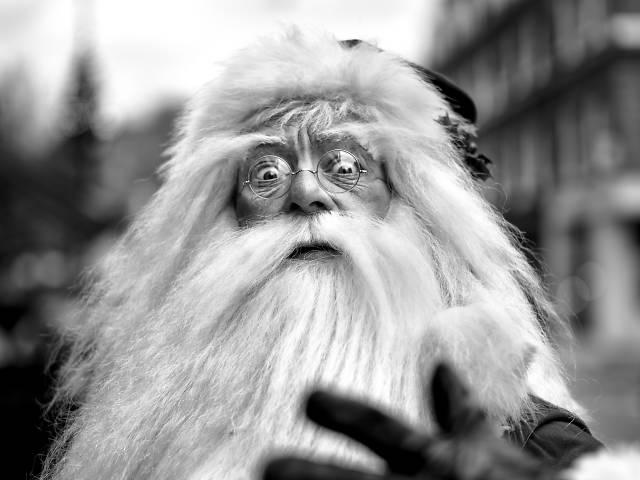 Startled Santa
