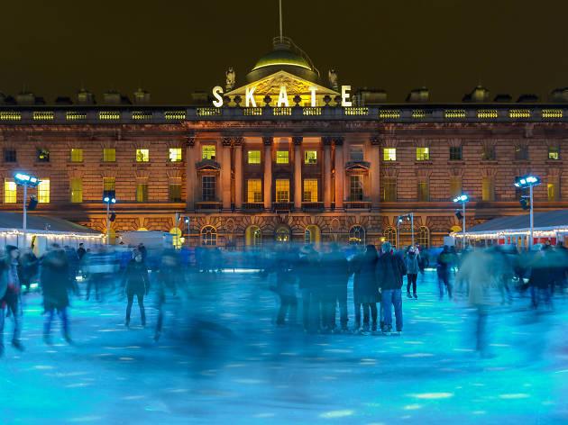 Ice skating at Somerset House.