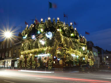 London's most festive pub is about to switch on its Christmas lights