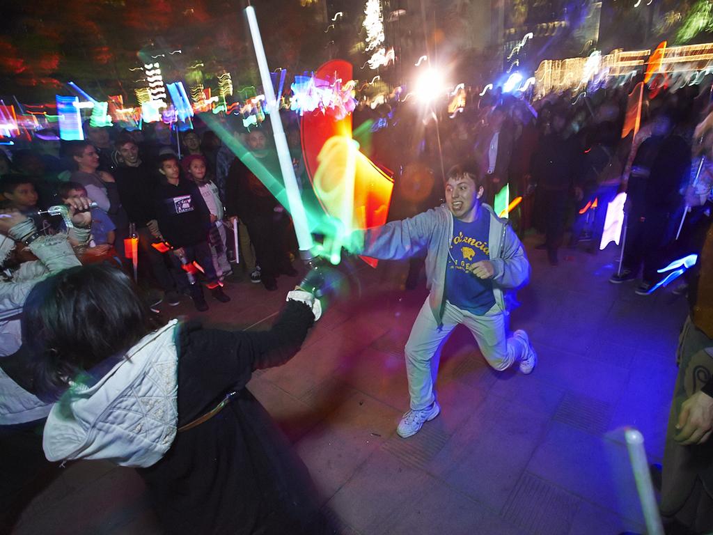 Lightsaber battle LA 2015