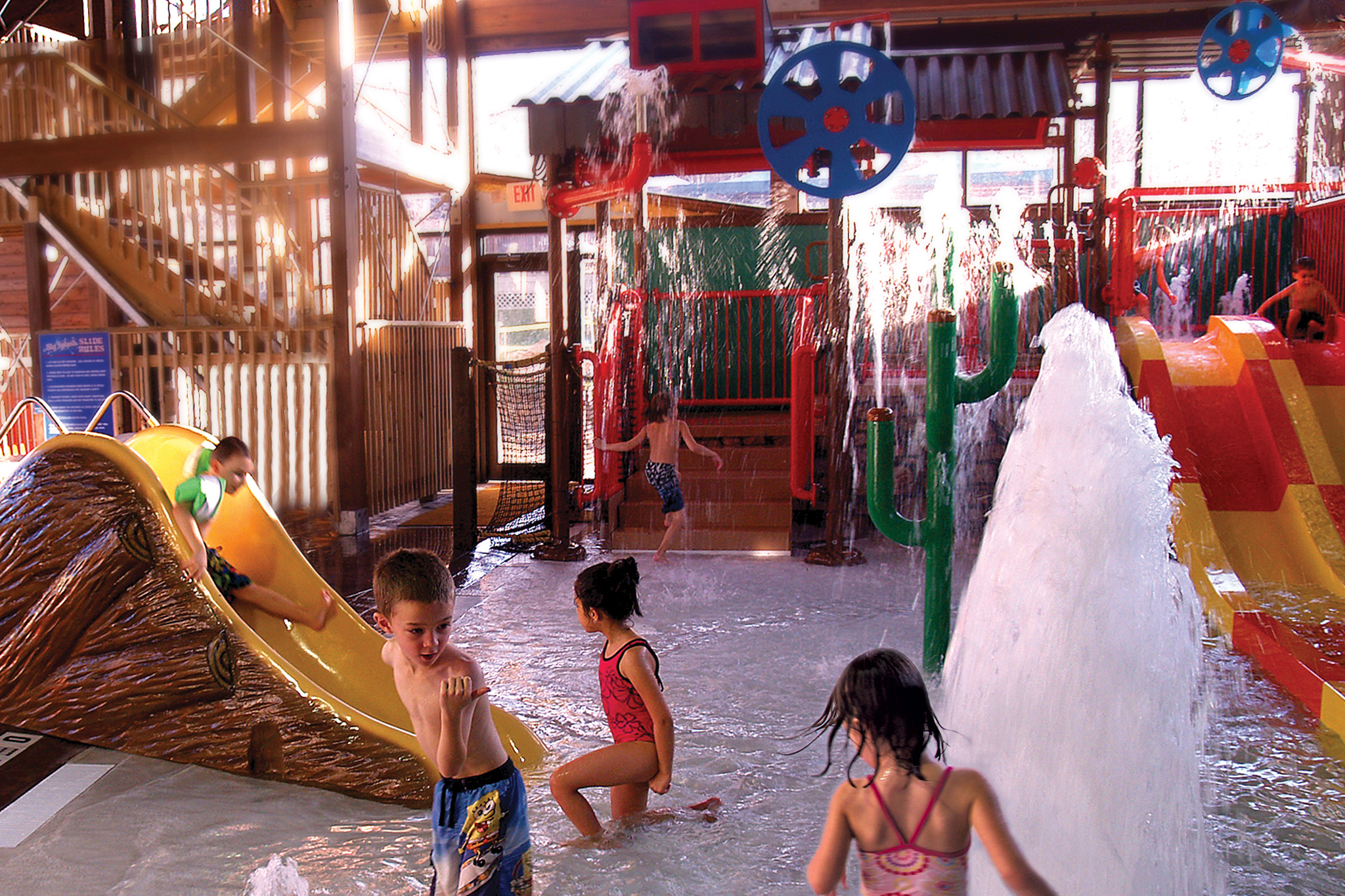Best indoor water parks near new york city for families for Giant city lodge cabins