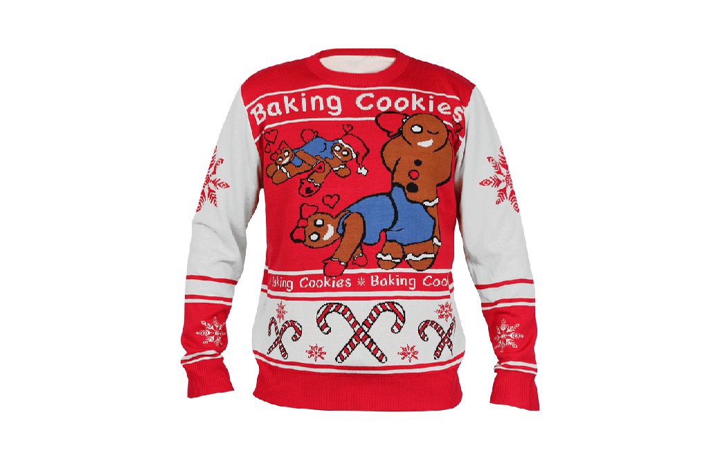 naughty gingerbread men christmas sweater 25 at lapolicegearcom - Dirty Christmas Sweaters