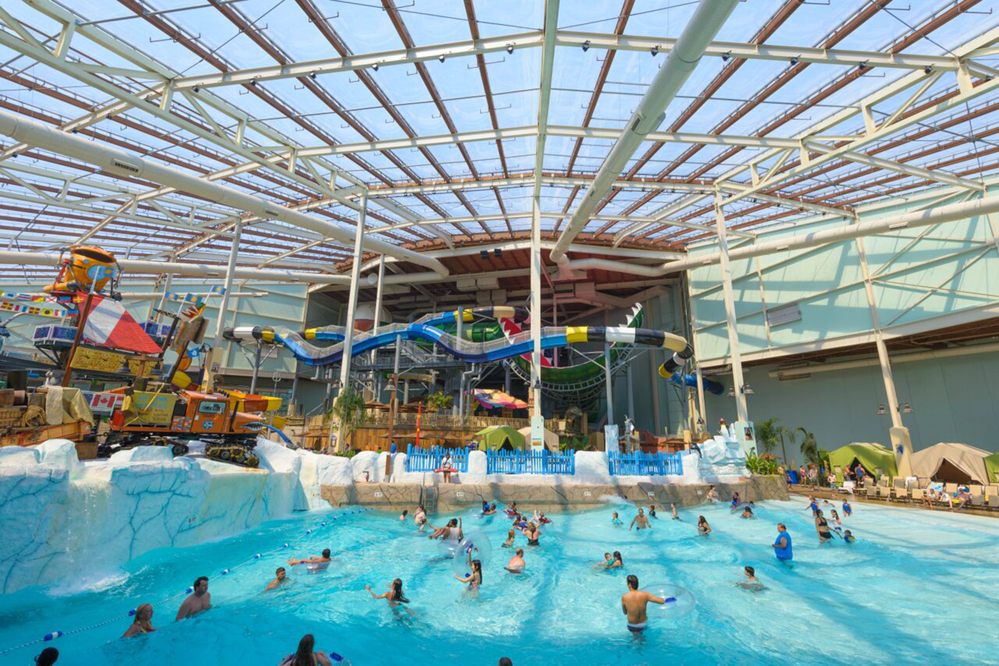 Indoor Swimming Pool With Slides best indoor water parks near new york city for families