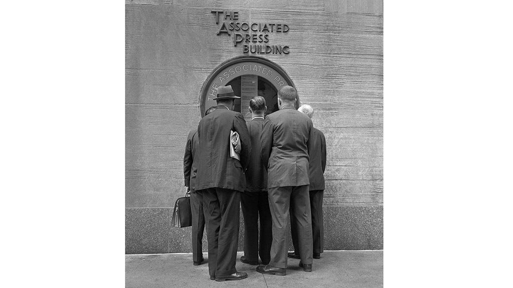 AP Window Rockefeller Center Frank Oscar Larson