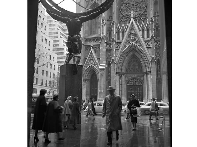Across from St Patricks Cathedral  Frank Oscar Larson