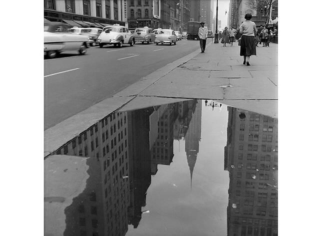 Chrysler Reflection 42nd St. Near Fifth Avenue Frank Oscar Larson