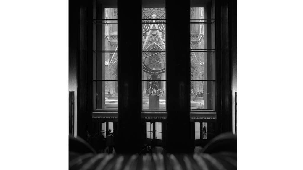 Escalator to Fifth Avenue, Rockefeller Center Frank Oscar Larson