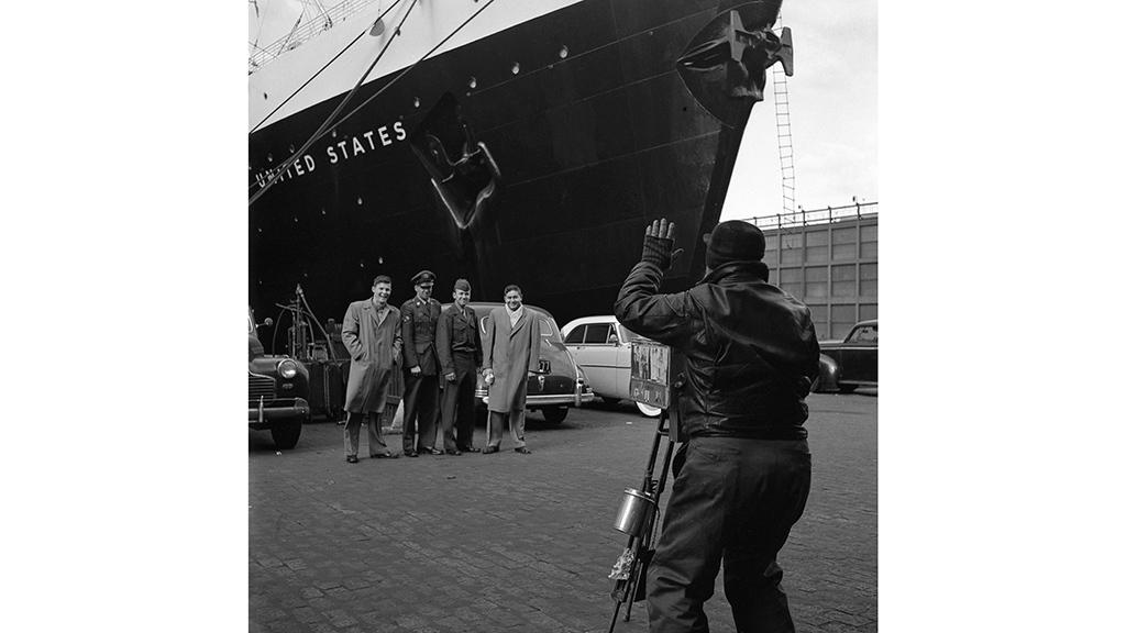 Posing for the Camera, Pier 86, 46th Street   Frank Oscar Larson