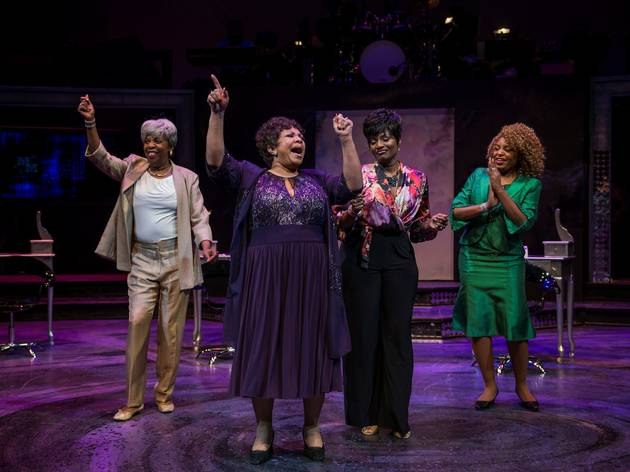 Rhonda Preston, Shari Addison, Rashada Dawan and Melanie McCullough in Dynamite Divas (2015) at Black Ensemble Theater