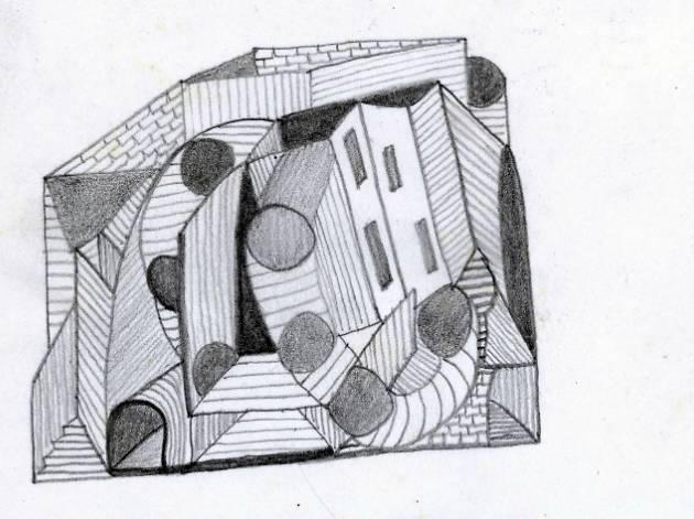 untitled, undated black pencil on paper, 22 x 16 cm
