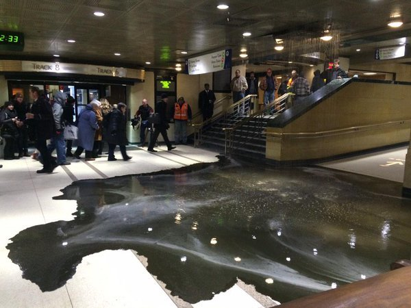Black ooze invades Union Station