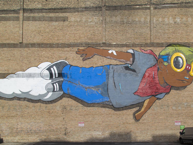 Hebru Brantley's murals