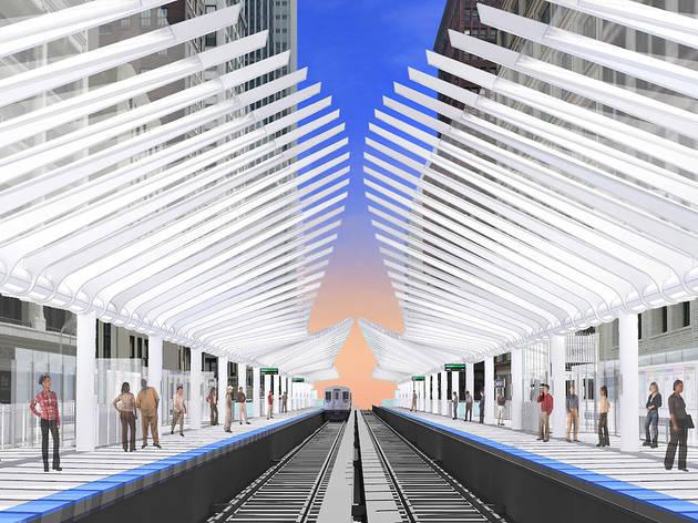 A brand new Washington/Wabash station