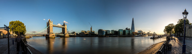 London skyline panorama