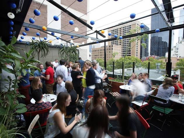 Rooftop dining in Melbourne