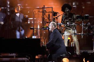 Billy Joel performs at Shea Stadium