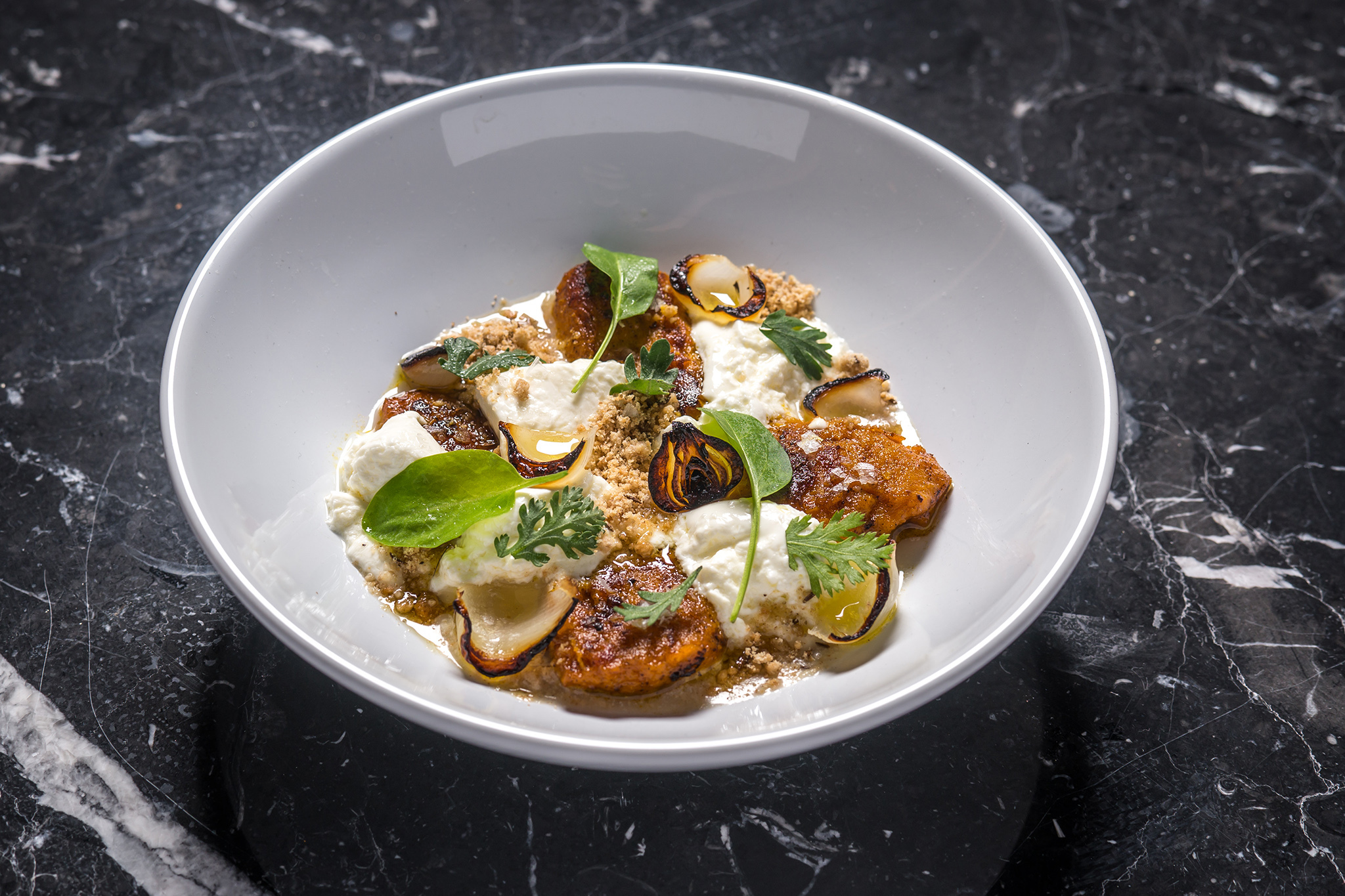LE TURTLE kabocha and fresh cheese