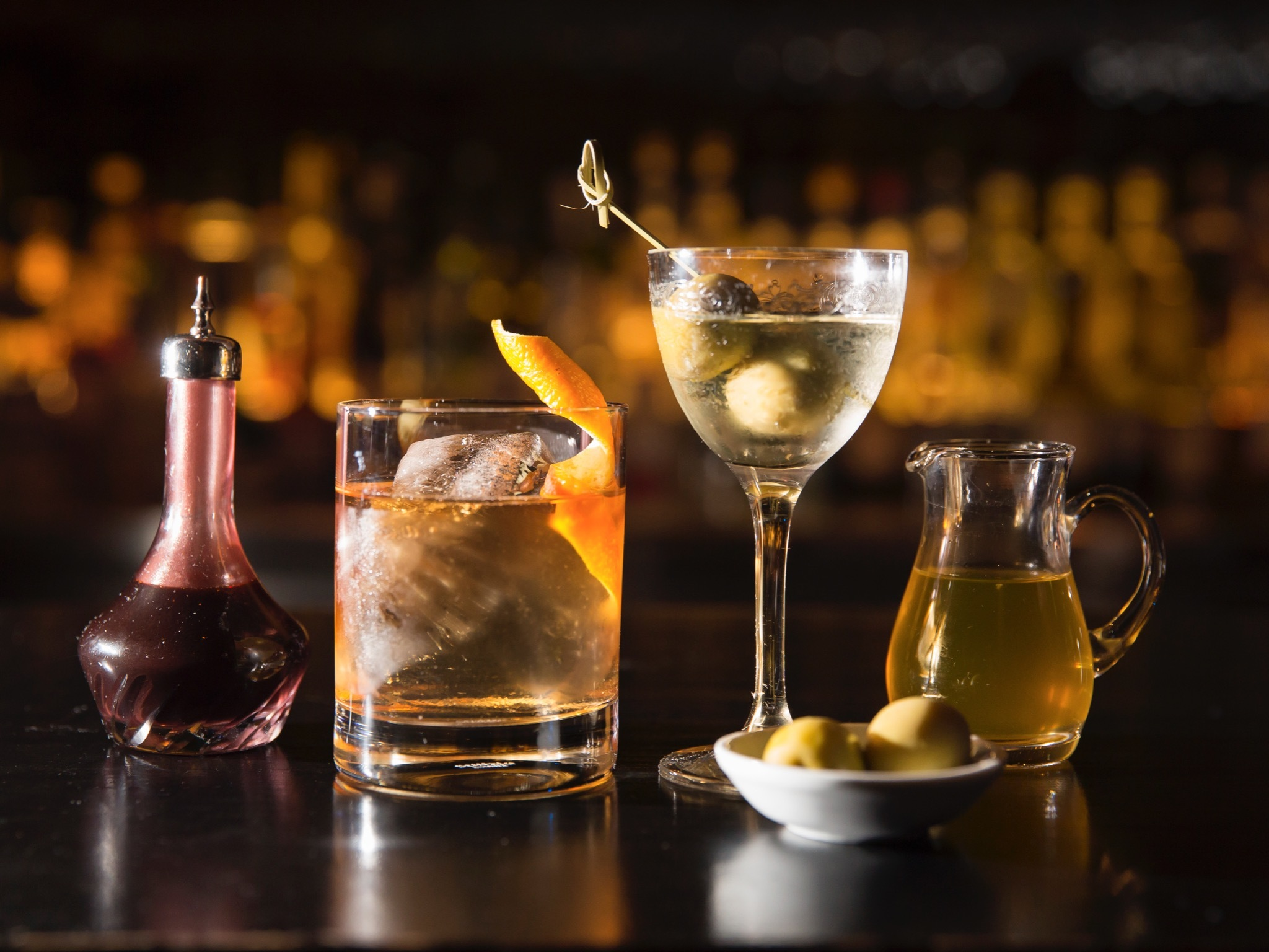 A selection of cocktails
