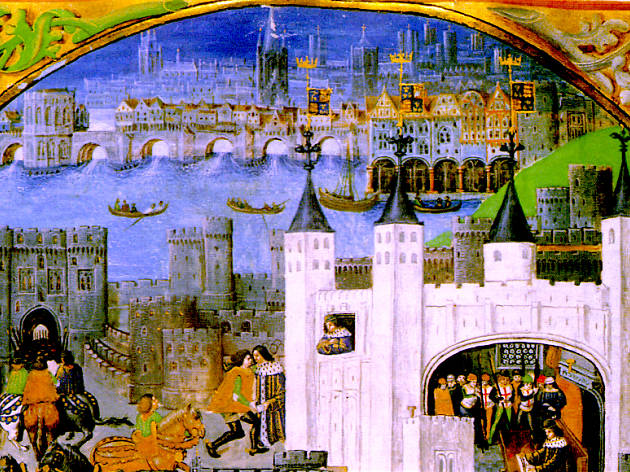 Medieval London showing the Tower