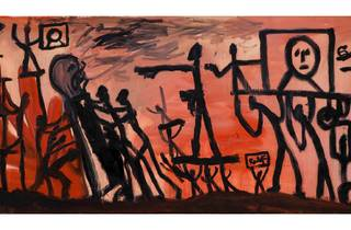 (AR Penck: 'Umsturz (Coup d'Etat)', 1965. Courtesy Michael Werner Gallery, New York and London)
