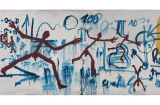 (AR Penck: 'Komposition (Übertritt: Ost/ West) Composition (Crossing: East/West)', 1968. The George Economou Collection)
