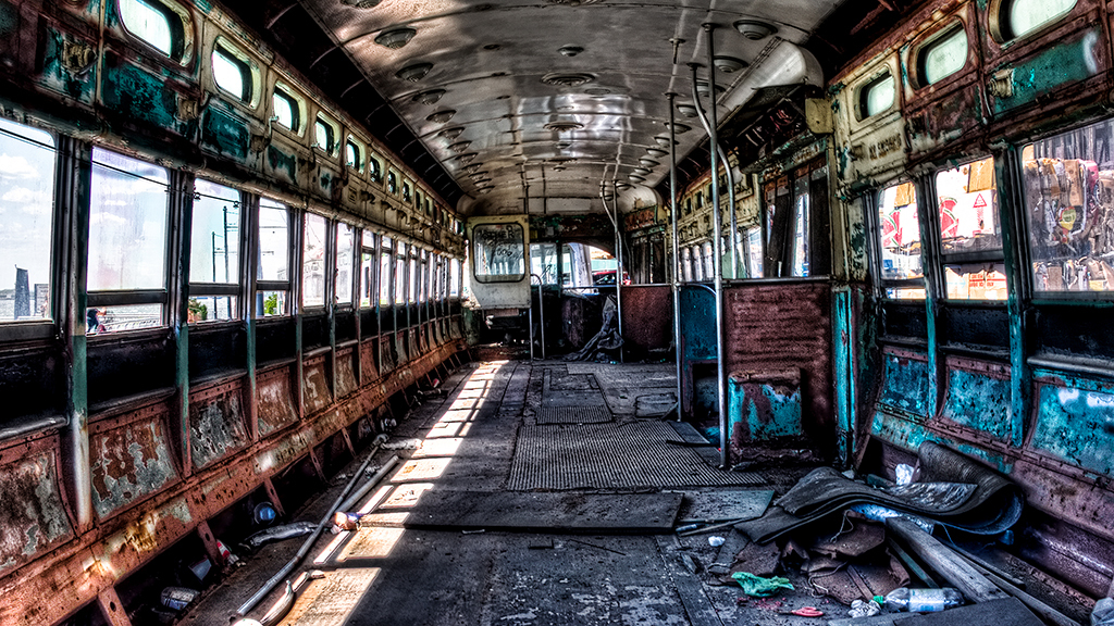 Abandoned Trolley, Red Hook