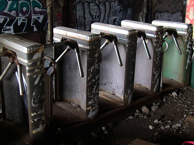 Subway turnstiles