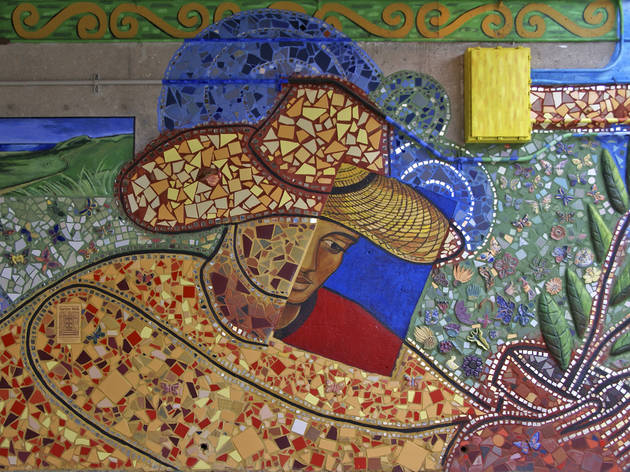 Mosaic on Bryn Mawr