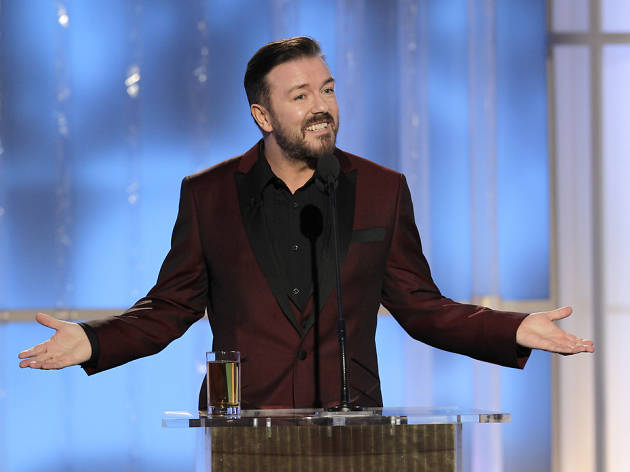 Ricky Gervais at the 2012 Golden Globes