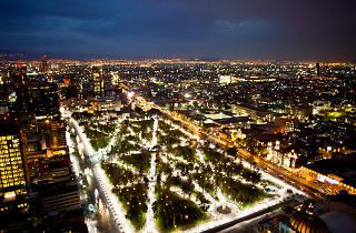 Vista de la Alameda Central de la Ciudad de México