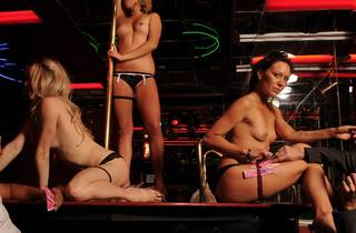 Strippers posing for the camera