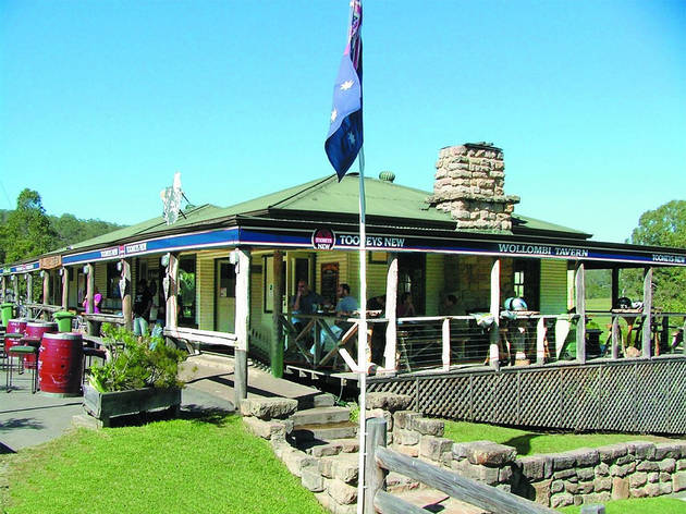 An exterior shot of the Wollombi Tavern building