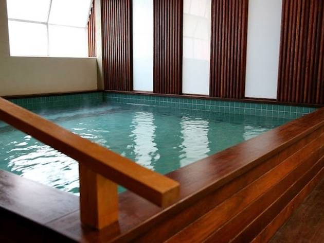 Go for a soak at the Japanese bath house