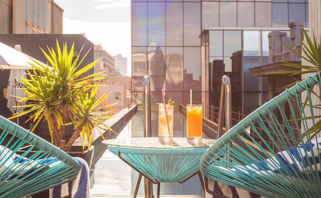 Sundays at the Adelphi Hotel rooftop pool