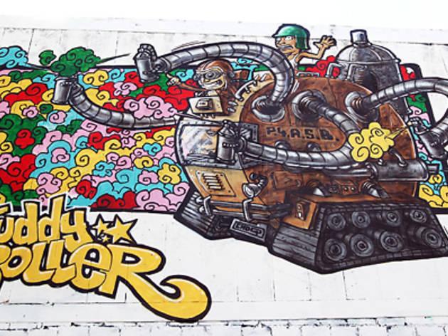 Juddy Roller mural