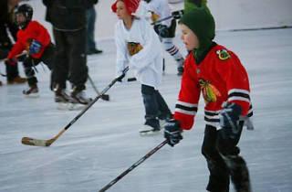 Chicago Blackhawks hockey clinic