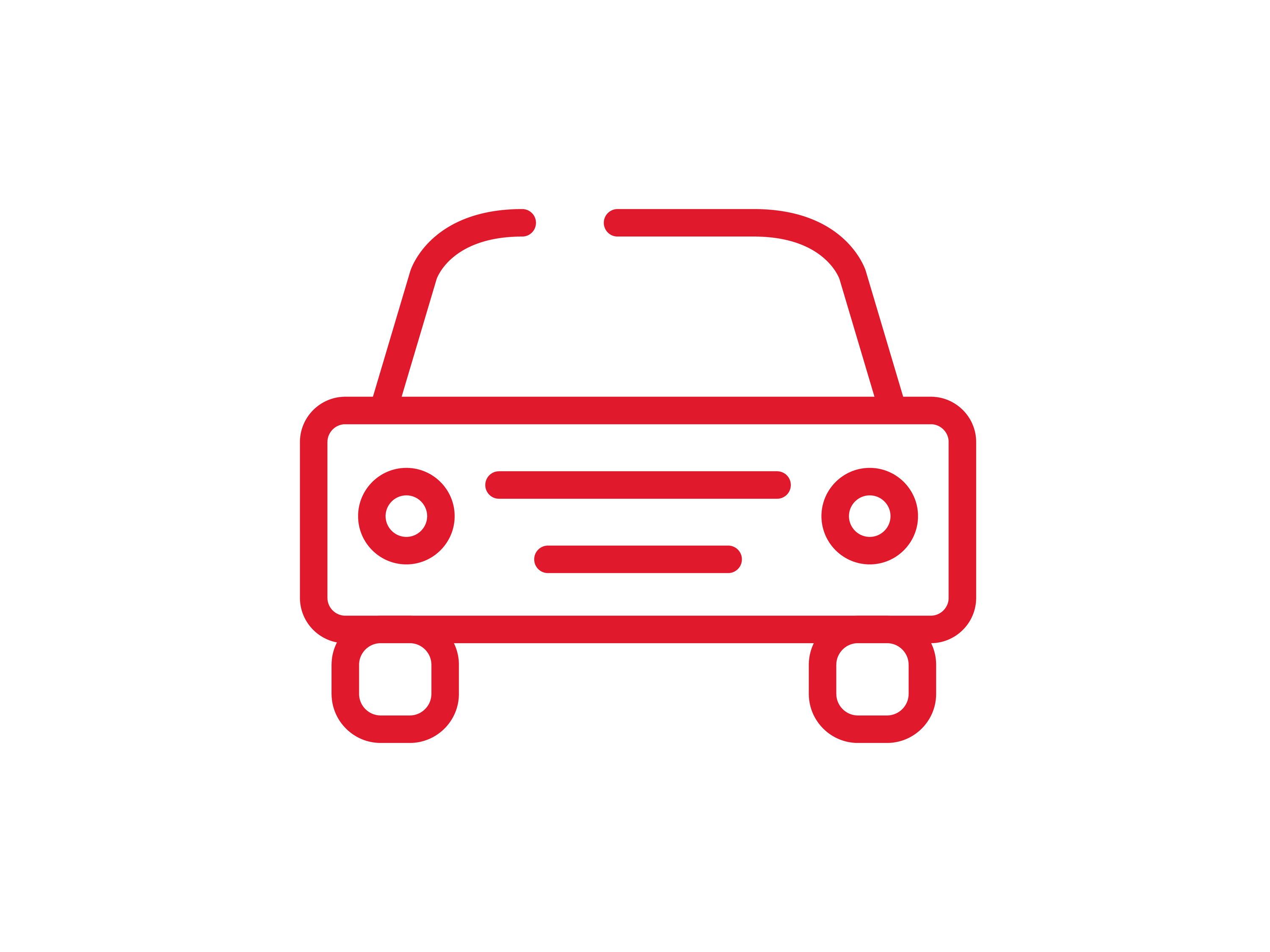 A illustrated icon of a car