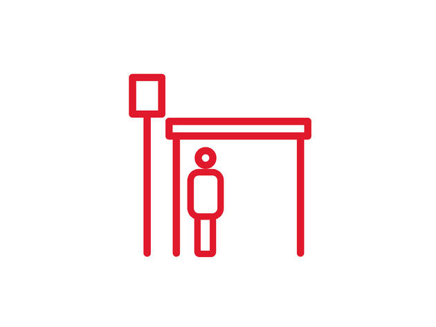 An illustrated public transport icon