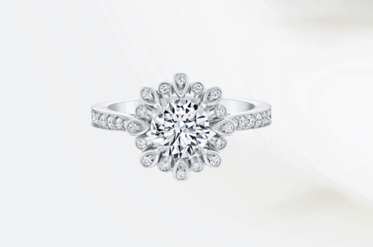 sylvie bridal vintage engagement crisscross modern diamond ring rings solitaire