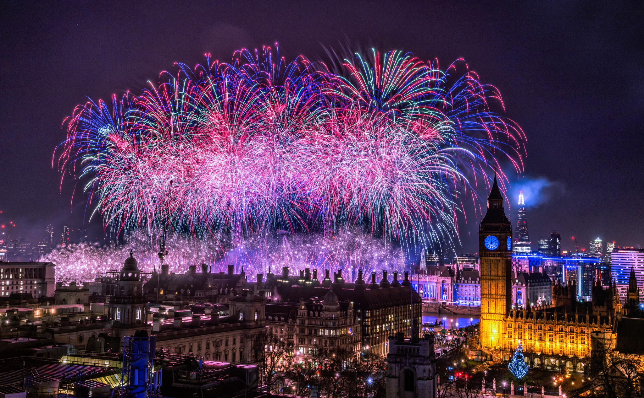 New Year's Eve and New Year in London